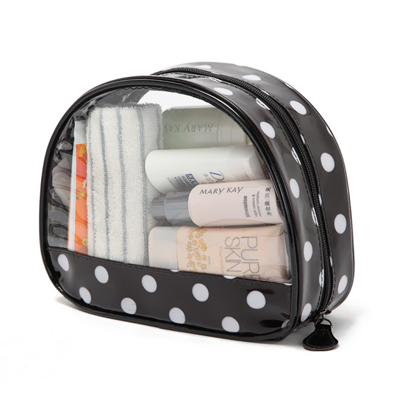 Transparent PVC women's makeup organizer necessaries stylish toiletry bag lady trousse de maquillage beauty new cosmetic bags(China (Mainland))