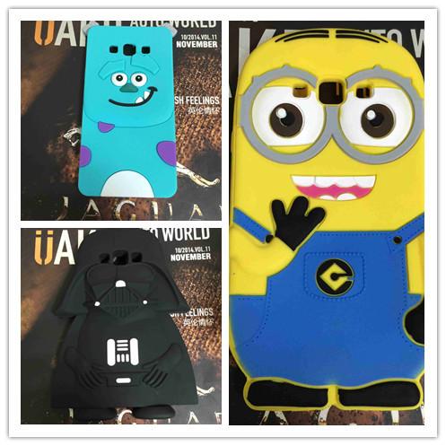3D Cute Cartoon Minnie Minions Stitch Sulley Soft Silicon Cover Back Rubber Case For Samsung Galaxy A7 A7000 A700F 10pcs/lot