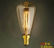 New Style ST48 E14 110V 220V 25W 40W DIY Vintage Antique Retro Style Lighting Filament Edison Lamp Light Bulb(China (Mainland))