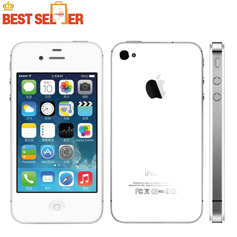2016 Hot Sale Original Apple Iphone 4S Smartphone WCDMA Dual Core WIFI GPS 8MP Multi-language IOS 8-IOS 9 Optional(China (Mainland))