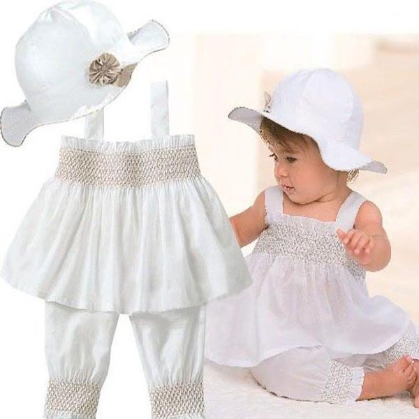 Baby Girls Kids Top+Pants+Hat Set 3 Pieces Outfit Costume Ruffled Clothes 0-3Y Free shipping &amp; Drop shipping<br><br>Aliexpress