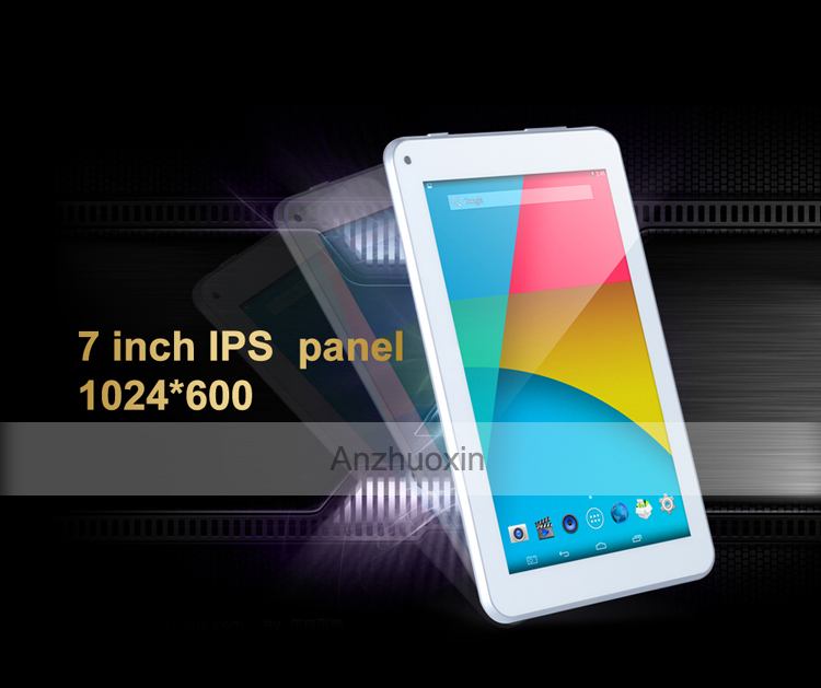 Promotional 1024x600 High Resolution Screen 4 Core 1 6GHz Core 1GB 4GB 7 inch Android IPS