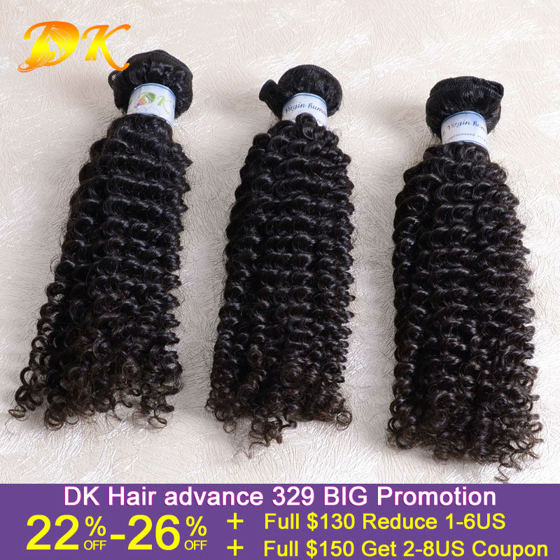 free DHL 3pcs/lot 12~30inch DK hair products virgin Peruvian human hair weave mixed lengths 6A jerry curly peruvian hair curl