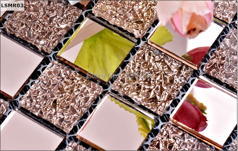 LSMR03,Rose golden Glass mirror mosaic tiles,Rose golden mirror mosaic tiles for wall,kitchen mirror glass mosaic tiles
