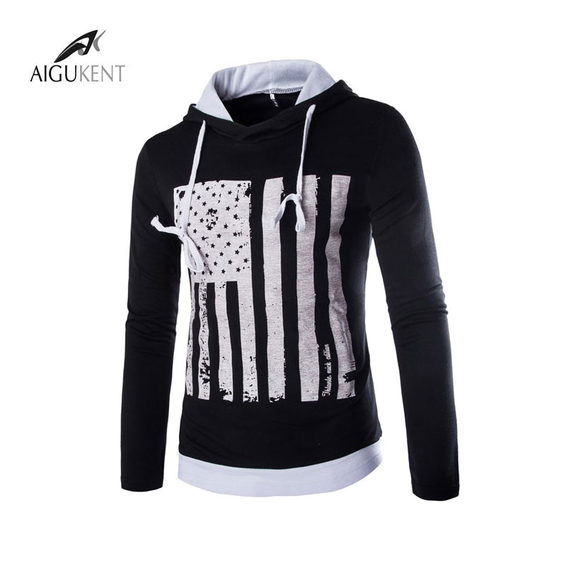 2016 men 39 s fall fashion slim hooded printed solid color for Fall clothing colors 2016