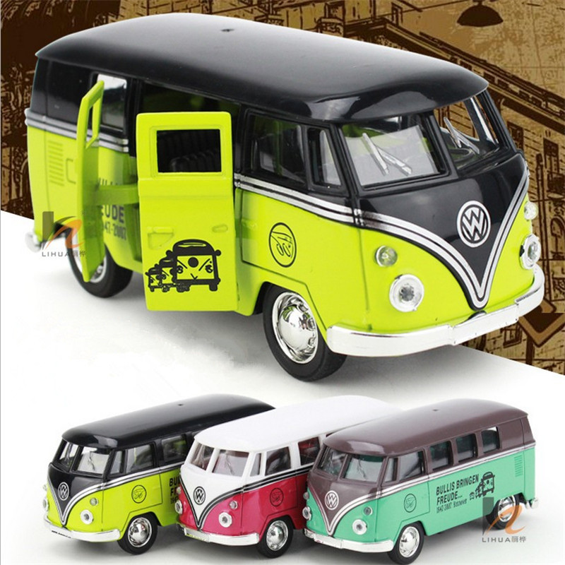 Free shipping 1pcs vintage VW bus classic car alloy car model toy Children's Day on campus to give the baby a good gift(China (Mainland))