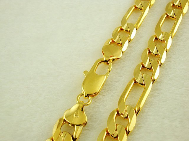 Wholesale Super deal New arrival fashion Jewelry vacuum plated 24K gold Men's necklace 46CMx10mm super price! Free Shipping XL21