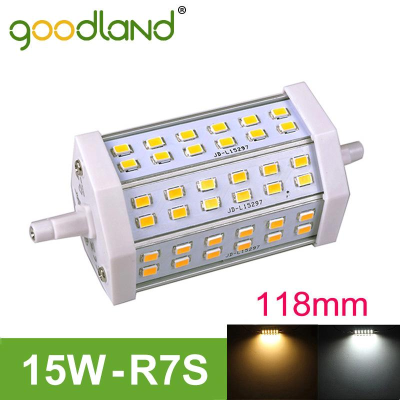 Goodland Brand R7S LED Lamp 15W 118mm,J118 LED R7S Light Bulb 110V 220V High Bright SMD5730 Dimmable Replace Halogen Lampada<br><br>Aliexpress