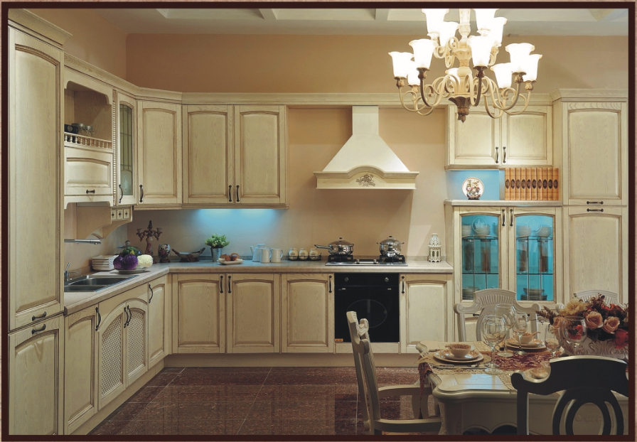 2014 new free design module kitchen cupboard integrated for Quality kitchen cabinets
