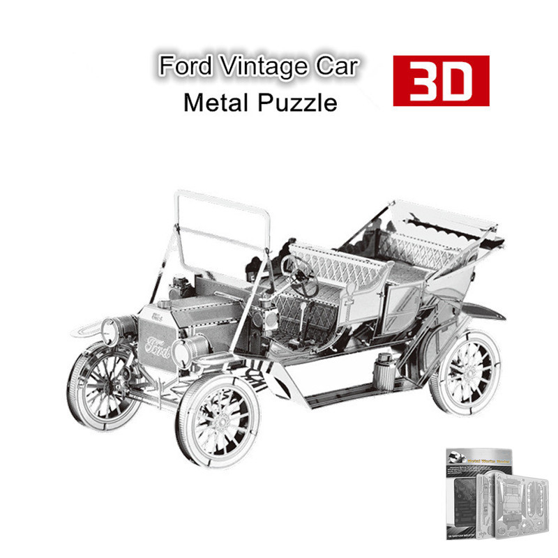 Nanyuan Ford Vintage Car 3D Metal Puzzle Jigsaws Metal Earth 3D DIY Assembly Model for Children Kids Educational Toys Gifs(China (Mainland))