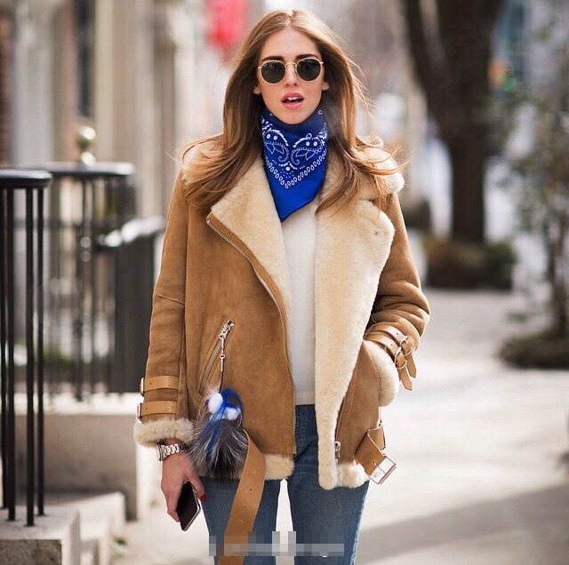 sheepskin fur coat jacketin