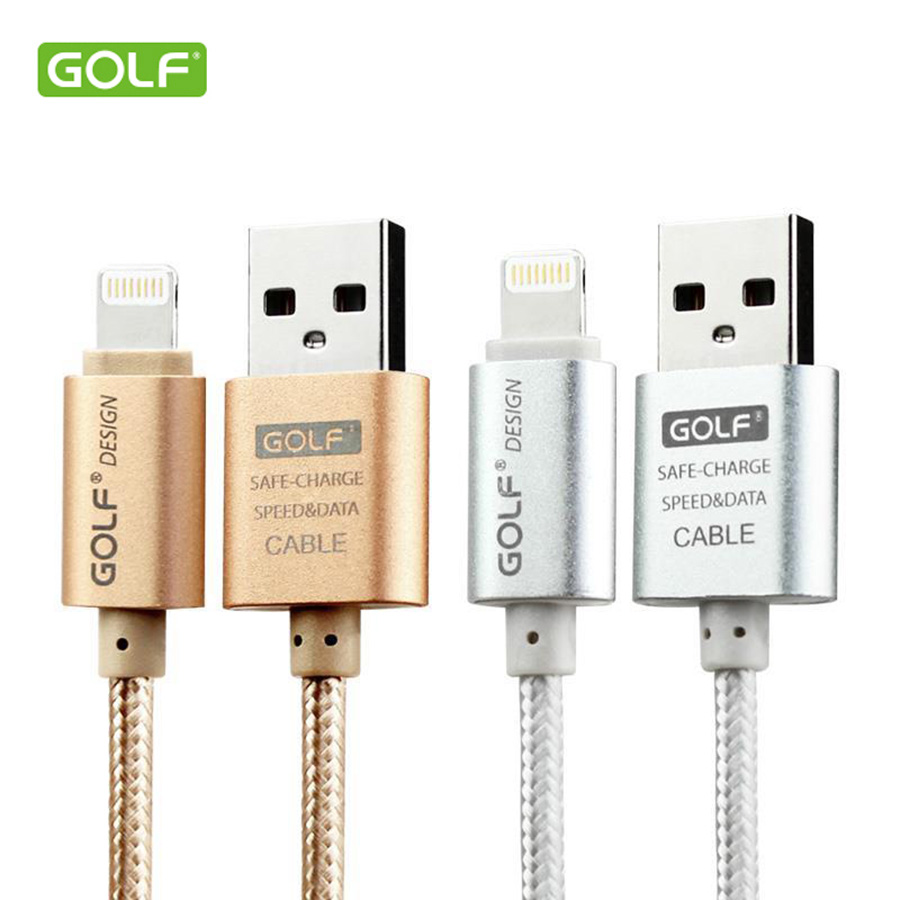 Golf USB Cable 1M 1.5M 2M 3M 8-pin Wire For Iphone 5 5c 5s 6 6 plus Sync Charging Data Transfer Golf Brand iPhone USB Cable(China (Mainland))