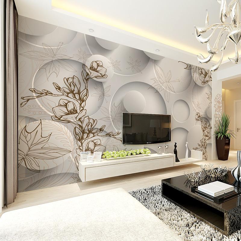 Orqu dea murales compra lotes baratos de orqu dea for Wallpaper sala de estar