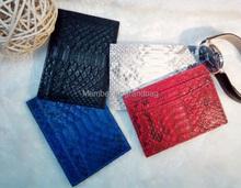 Genuine python skin leather card holder slim wallet , snake leather credit card holder(China (Mainland))