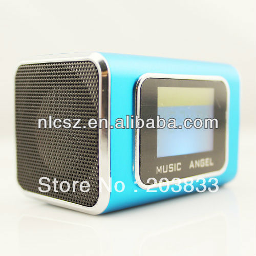 New Portable Mini USB Micro SD/TF music Player with screen, digital computer speaker