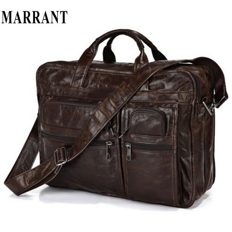 "Genuine Leather Men bag Totes Handbags Men's Messenger Bags Cow Leather Portfolios Cowhide Briefcase 15.6"" Laptop Shoulder Bag(China (Mainland))"