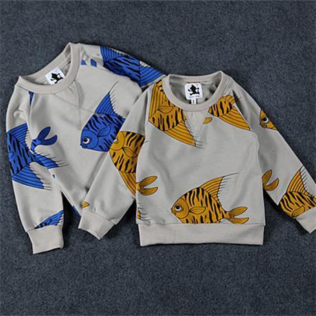 2015 new children T shirt mini rodini boys girls Sweatshirt cotton long sleeve baby hoody kids clothes fashion spring autumn(China (Mainland))