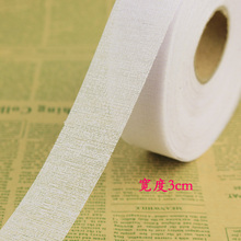 3cm 10m/lot white Waist lining resin diy accessories dress waist lining one side adhesive Ironing garment accessories 998 (China (Mainland))