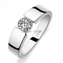 Victoria Wieck Solitaire Jewelry Men Women White Topaz Gems 925 Sterling Silver Wedding Ring Sz 7-11 Free shipping(China (Mainland))