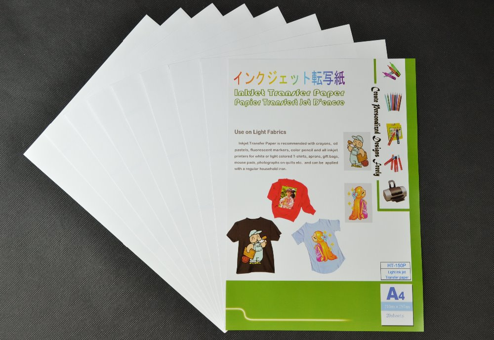 Inkjet heat transfer paper , Five Sheets for Light 150P and Five Sheets for Dark 300. For DIY 100% cotton Tshirts. Free shipping(China (Mainland))