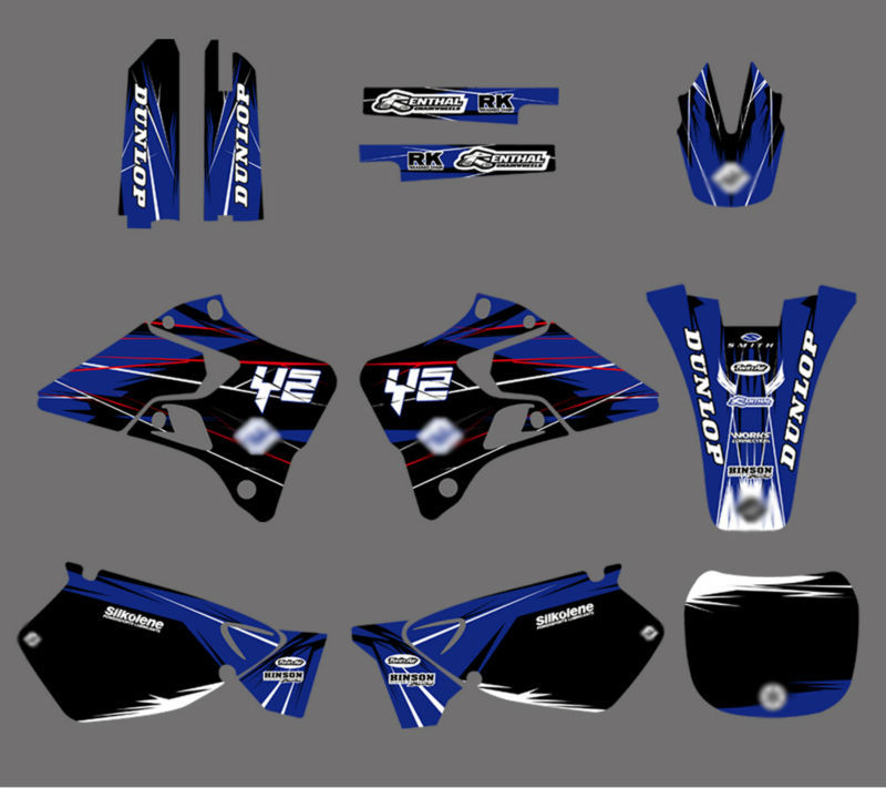 0022 New Style TEAM GRAPHICS&amp;BACKGROUNDS DECALS STICKERS Kits for YZ125 YZ250 1996 1997 1998 1999 2000 2001<br><br>Aliexpress