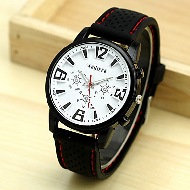 Men's Military Watch Alloy Dial Running Sports Watch Stainless Steel Wristwatches Casual Watches Silicone Strap Watches Dropship(China (Mainland))