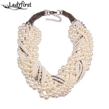 Buy 2015 New Fashion Z Bib Collar Necklace & pendant Luxury Choker Simulated pearl Necklace Statement Jewelry9955 for $4.99 in AliExpress store
