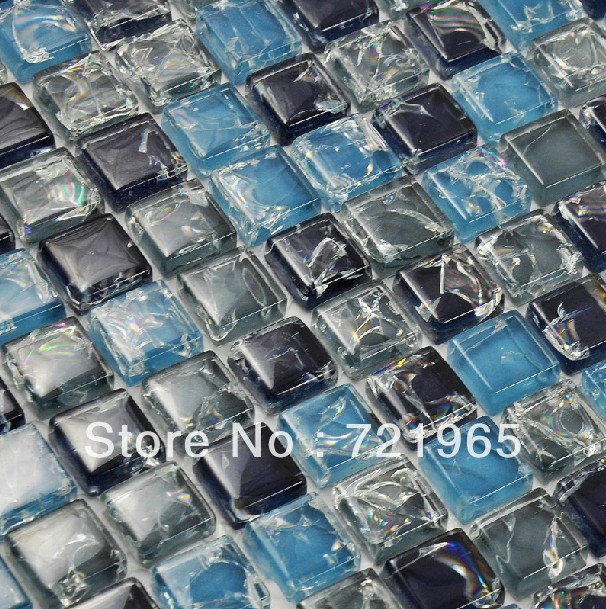 Glass Mosaic Discount Kitchen Backsplash Tiles Ckmt043 Decor Mesh Blue Glass Mosaic Swimming