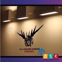 Japanese Cartoon Fans SEED GUNDAM Banshee Vinyl Wall Stickers Decal Decor Home Decorative Decoration