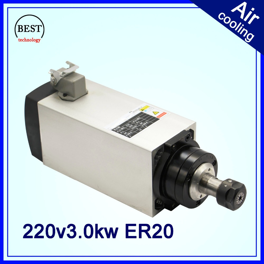 3 kw er20 air cooled spindle motor cnc wood working for Best router motor for cnc