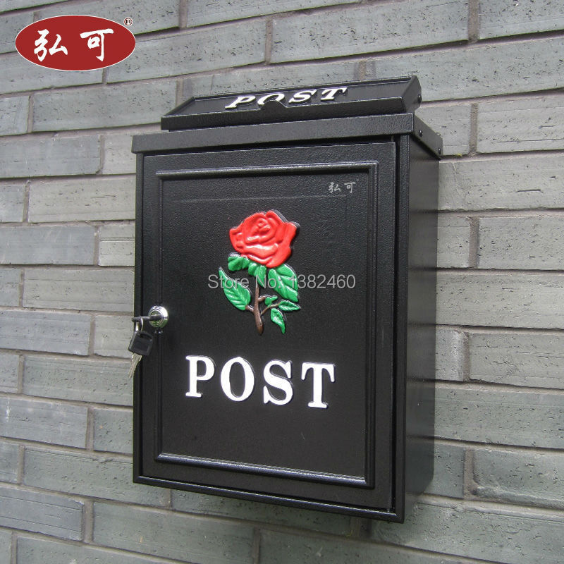 High quality in the first half of the wall mounted aluminum decorative mailbox outdoor Newspaper Mailboxes Post Box Letter Box(China (Mainland))