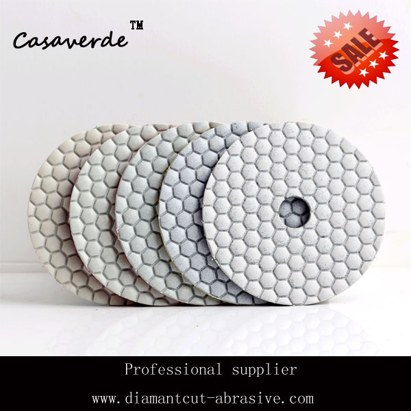 "Free shipping 100# 4""(100mm) granite polishing pad dry for power tool(China (Mainland))"