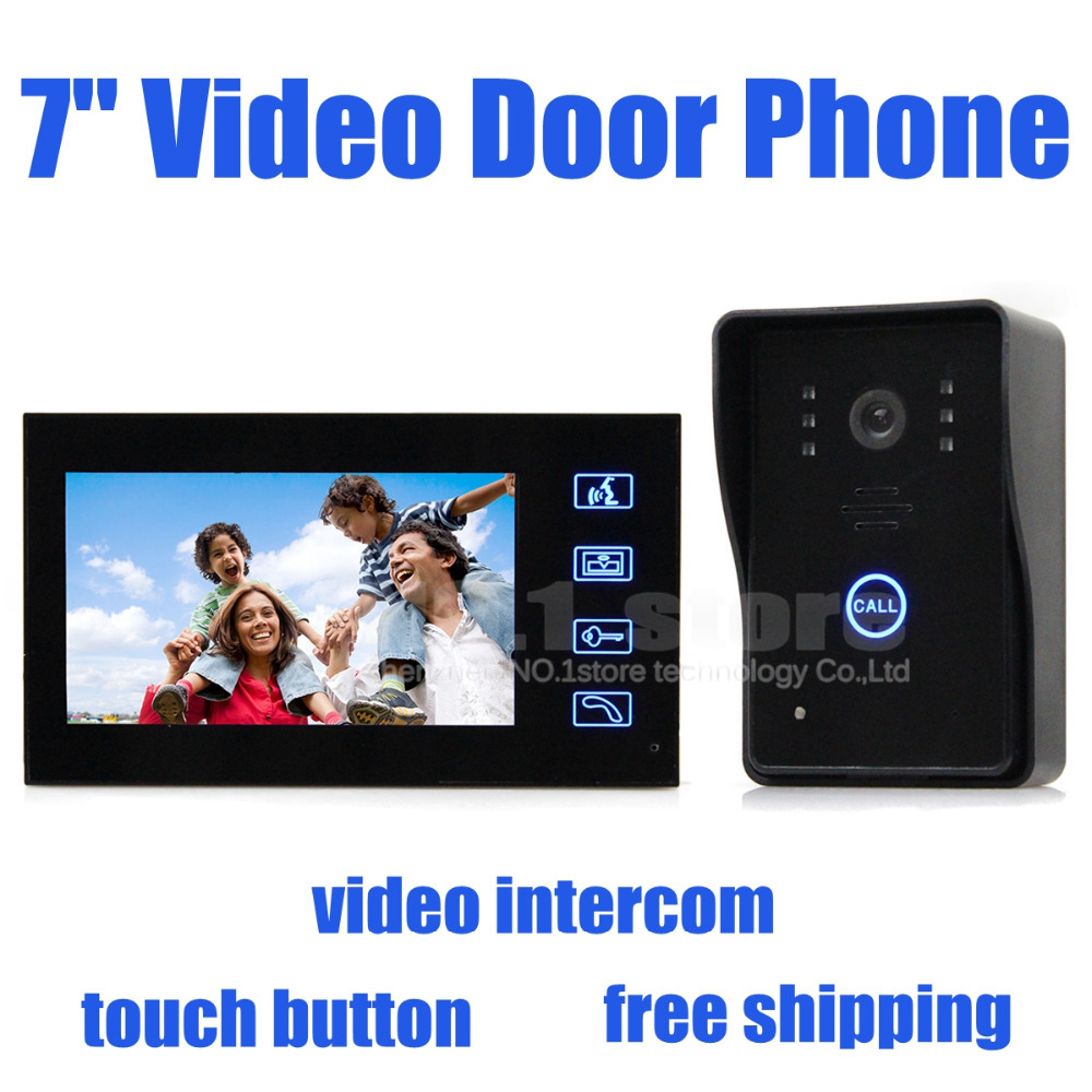 Video Door Phone Doorbell Touch Key 7 inch Lcd Video With IR Door Camera Of Home Entry Intercom SY806MJ11(China (Mainland))