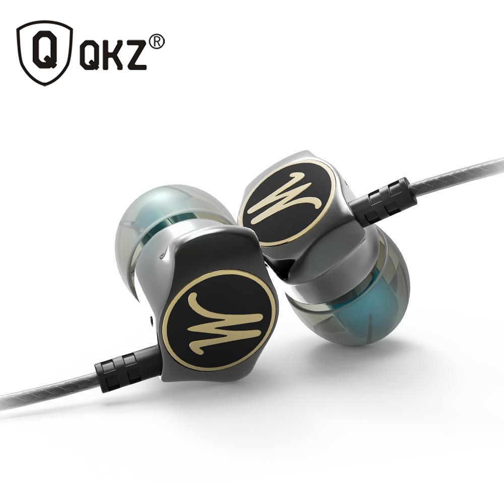 Earphone In Ear Earphones HiFi Ear Phone Metallic Earbuds Stereo in-Ear Earphone QKZ X10 Zinc Alloy Noise Cancelling Headsets DJ