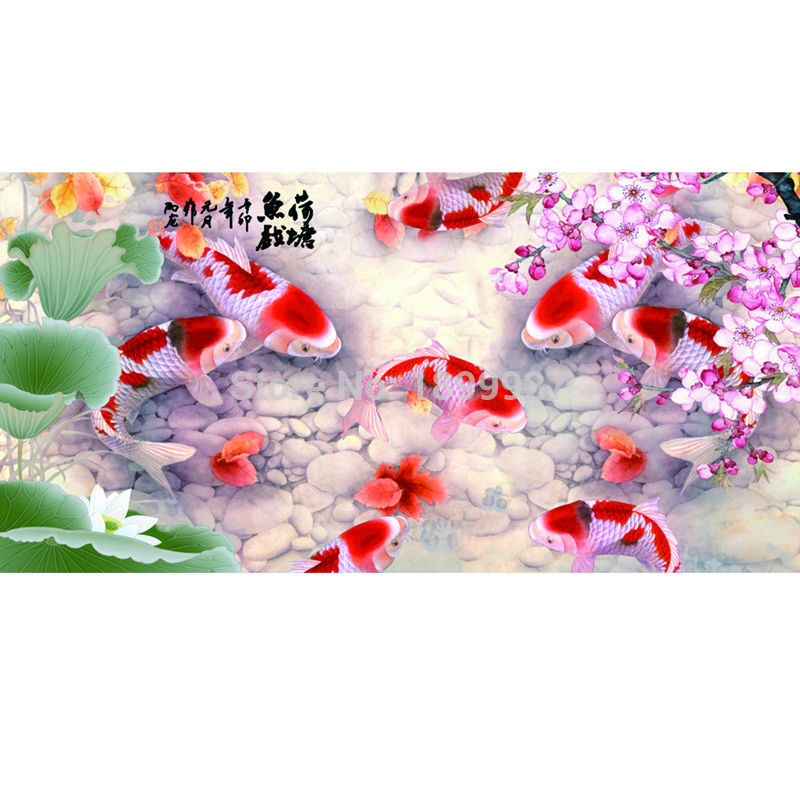 Online buy wholesale koi cross stitch from china koi cross for Wholesale koi fish