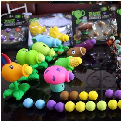 2015 new New Popular Game Plants vs Zombies Peashooter PVC Action Figure Model Toys Plants Vs Zombies Toys For Baby Gift(China (Mainland))