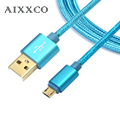 AIXXCO Gold plated plug Micro USB cable Fast Charging 5V2A Data Sync charger Mobile Phone Cable