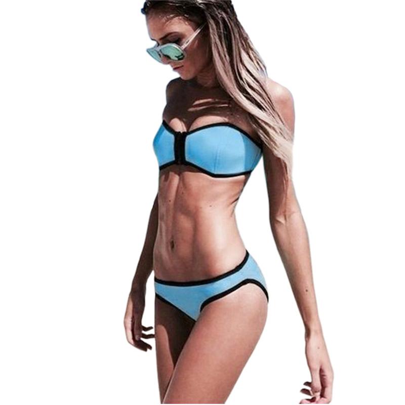 Купальники треугольник женская мода неопрена бикини женщина летом 2015   купальник купальный костюм росту комплект бикини Bathsuit цвете-v17