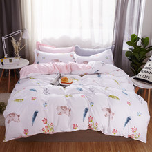 Black heart Style Bedding Set bed linen Single Double Bed Christmas Gift Sheet Pillowcase Duvet Cover Sets high Quality(China)