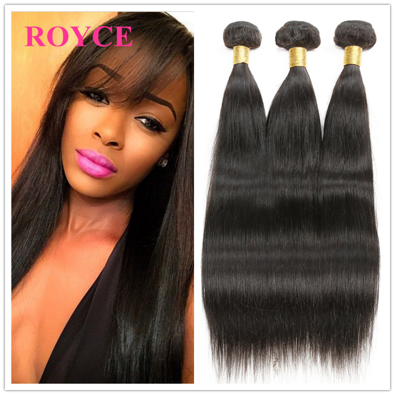 Maxglam Hair 7A Mongolian Straight Virgin Hair 4Pcs Premium Unprocessed Virgin Human Hair 8