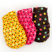 Buy 2015 Fashion Polka Warm Pet Dog Clothes Small Waterproof Dog Coat Jacket Winter Quilted Padded Vest Clothing Puppy Chihuahua for $7.74 in AliExpress store