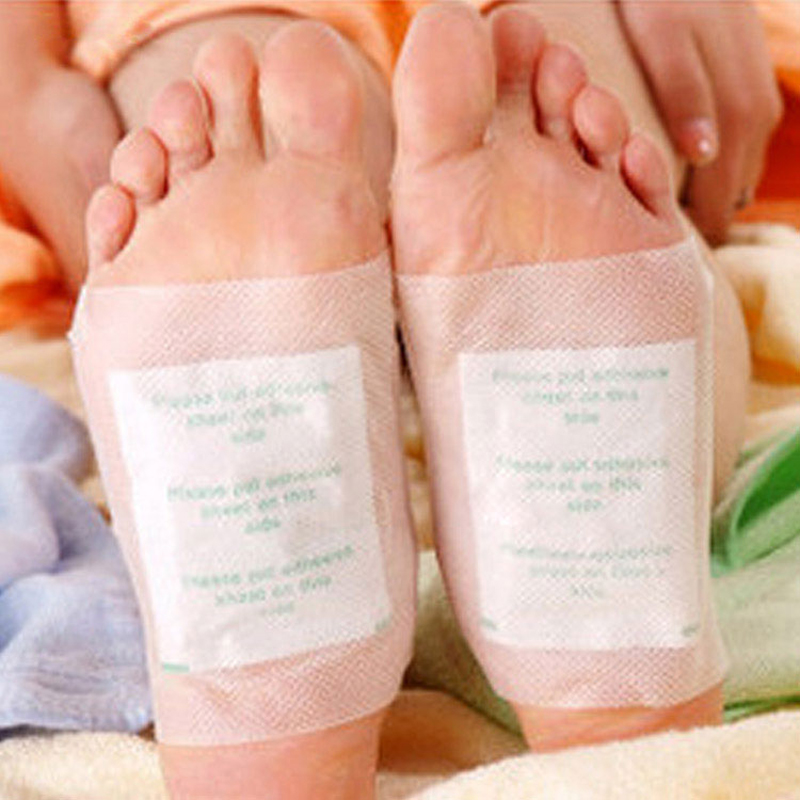 10 PCS Premium Detox Foot Pads Patches Organic Herbal Cleansing Patches and Adhesive for Health Care(China (Mainland))