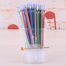 2016 NEW 36 colors a set flash ballpint gel pen highlight  refill color full shinning refill  painting pen freeshiping