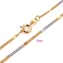 NEW ARRIVAL!!! 18KGP YELLOW GOLD&PLATINUM 450MM FASHION CHOKERS NECKLACES, COME WITH A FREE EXQUISITE GIFT BOX! (KL2887-FC302)(China (Mainland))