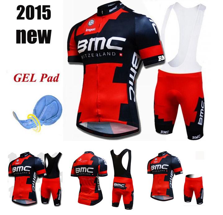 2015 Breathable Team Cycling Jerseys BMC Quick-Dry Bibs Bicycle Cycling Jerseys GEL Pad Bike Bib Ciclismo Racing MTB Shorts(China (Mainland))