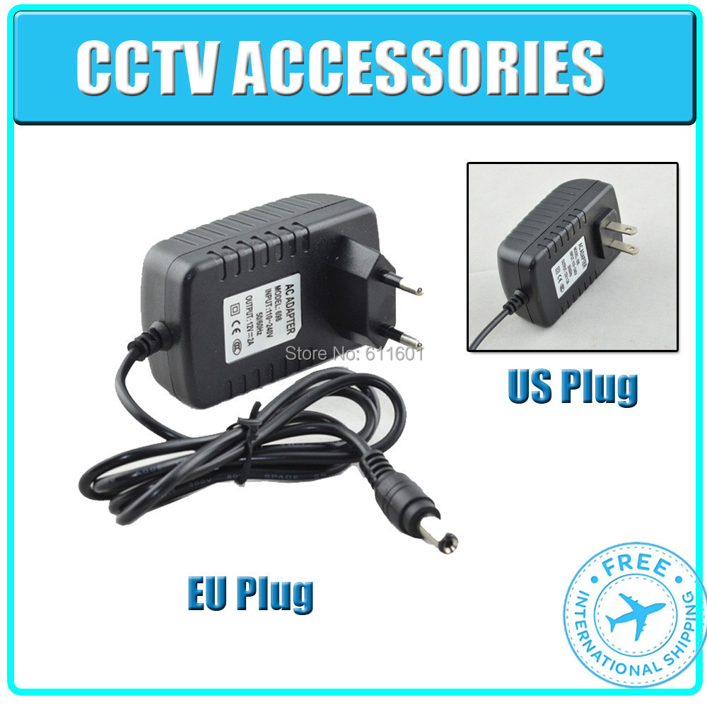 DC 12V 2A Power Supply Adaptor 12V Security professional Converter US / EU Adapter CCTV adpater for cctv camera , free shipping(China (Mainland))