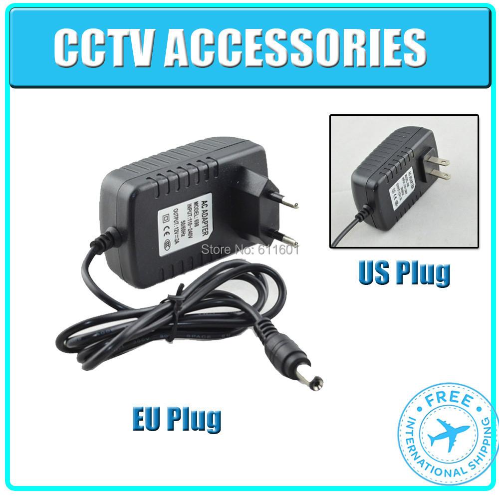 DC 12V 2A Power Supply Adaptor 12V Security professional Converter US / EU Adapter CCTV adpater for cctv camera , free shipping(China (Mainland))