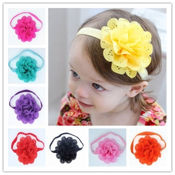 Fancy European And American Style Mesh Elastic Children's Hairband Hair Accessories Drop Shipping