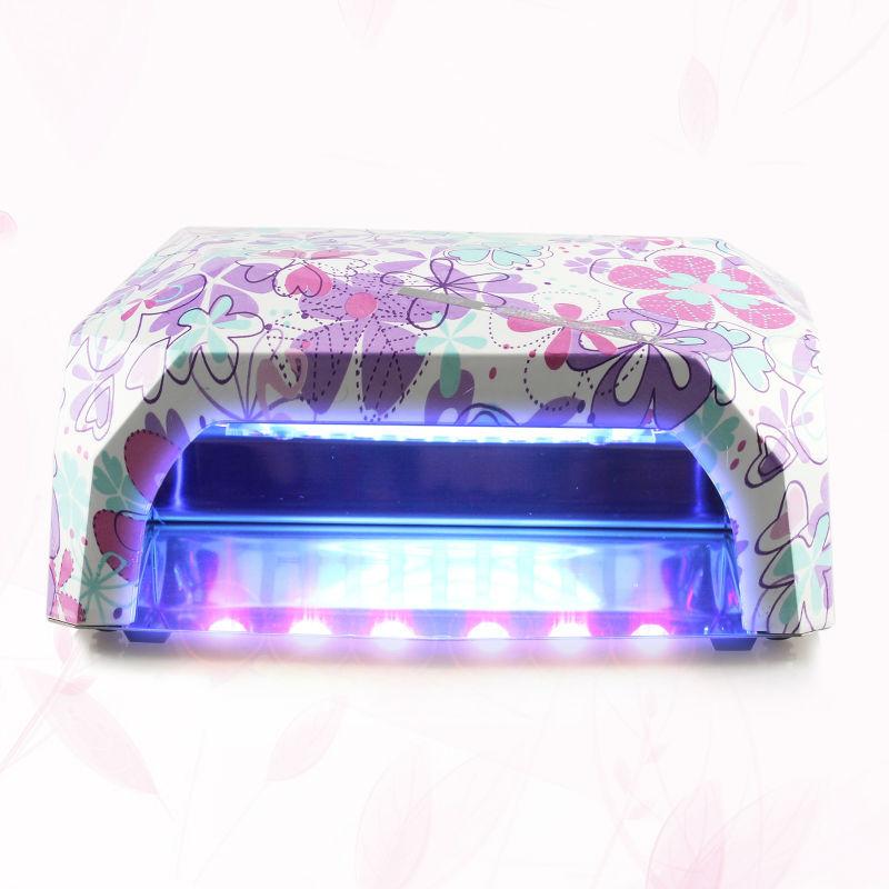 Perfect Summer 36w LED Nail Dryer Diamond Curing Nail Art Lamp LED Nail Gel Polish Dryer 9 Colors For choose(China (Mainland))