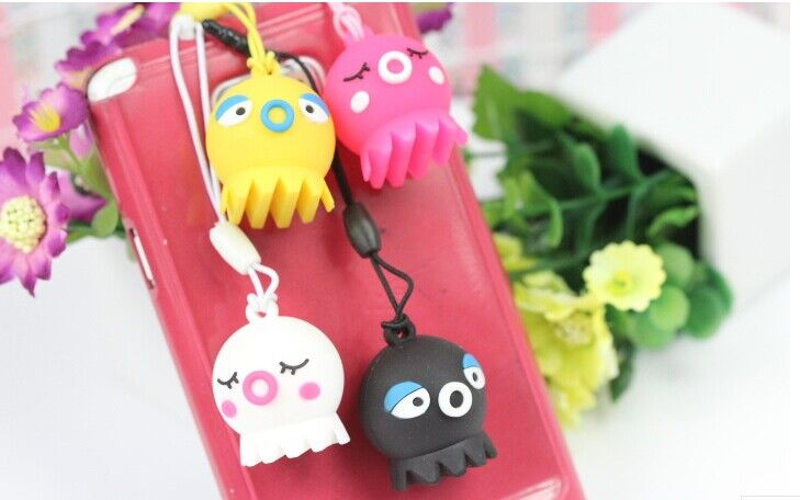 Cute Octopus Cell Phone Chain Phone Straps Pendant Charms for Decoration(Hong Kong)
